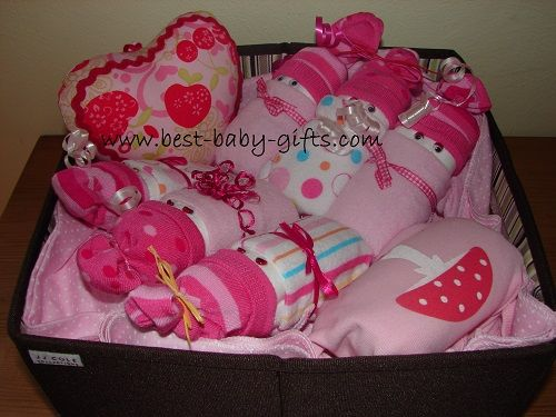 Creative Baby Gift Basket Ideas : Best images about baby shower on pink