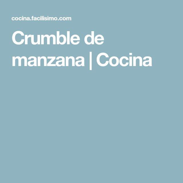 Crumble de manzana | Cocina