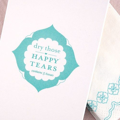 Pretty Tissues Printed in Sea Blue - Confetti.co.uk