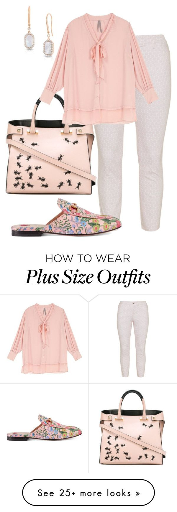 """plus size brittany"" by aleger-1 on Polyvore featuring Giancarlo Petriglia, NYDJ, Melissa McCarthy Seven7, Roberto Coin, Gucci and plus size clothing"