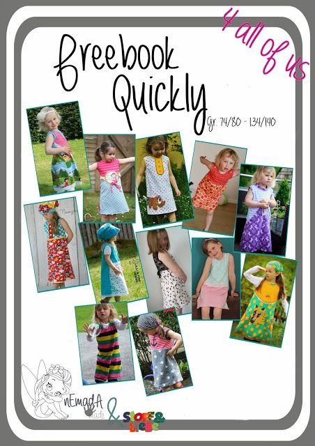 """Kleid 74 - 140 - """"Quickly"""" ... ein ganz süsses Kleidchen in leichter A-Linie ... das ratzfatz genäht ist"""