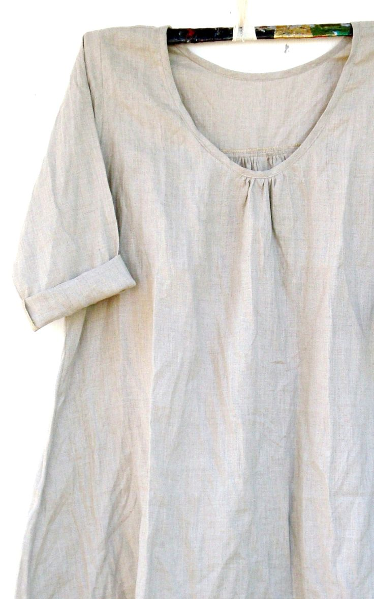 Linen smock. Try with Japanese pattern using fluted sleeves at elbow.