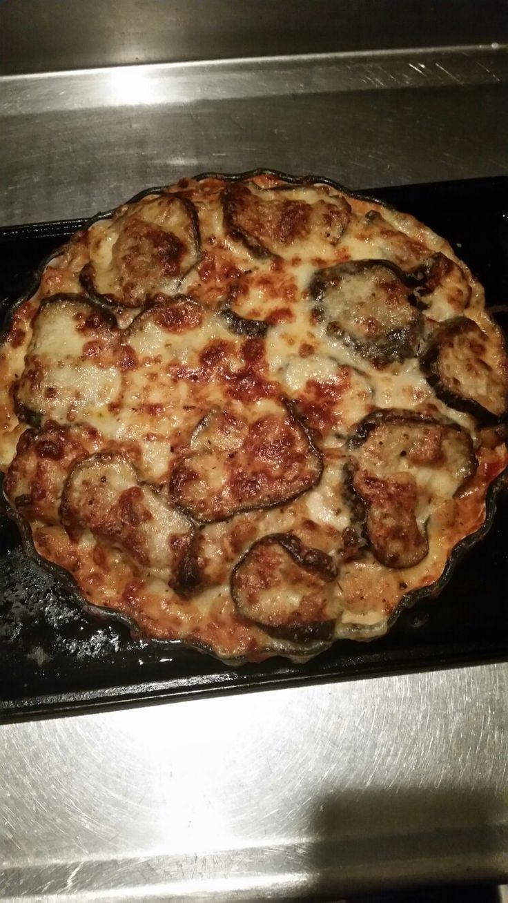 Eggplant and mushroom lasagne