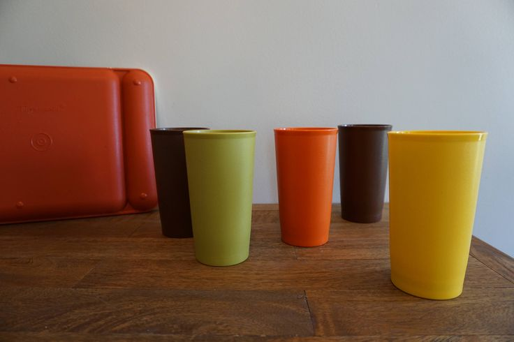 A personal favorite from my Etsy shop https://www.etsy.com/listing/542810121/vintage-tupperware-brand-plastic-cups