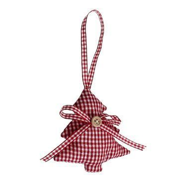 Nordic Christmas Tree | gingham christmas tree scandinavian style decoration scandinavian ...