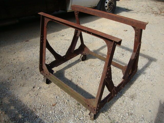 Industrial Machine Age Cast Iron Table LEGS Kitchen Island Desk Base  Steampunk
