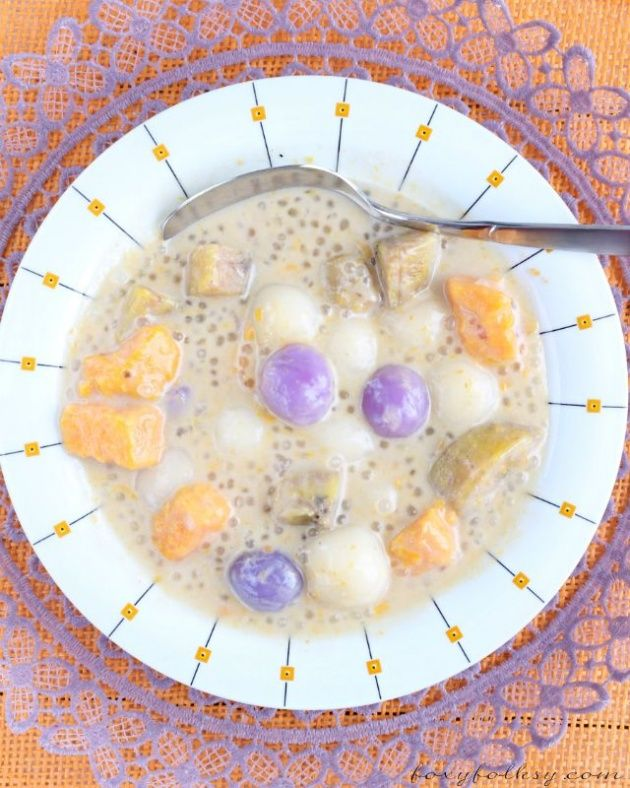 SAMPELOT: Ginataan Bilo-Bilo (Sticky Rice Balls in Coconut Milk) 'Sampelot' is a popular Kapampangan afternoon snack or breakfast in Pampanga. You are not a true blood Kapampangan if you never had tried to eat this. Sometimes this is also served as desser