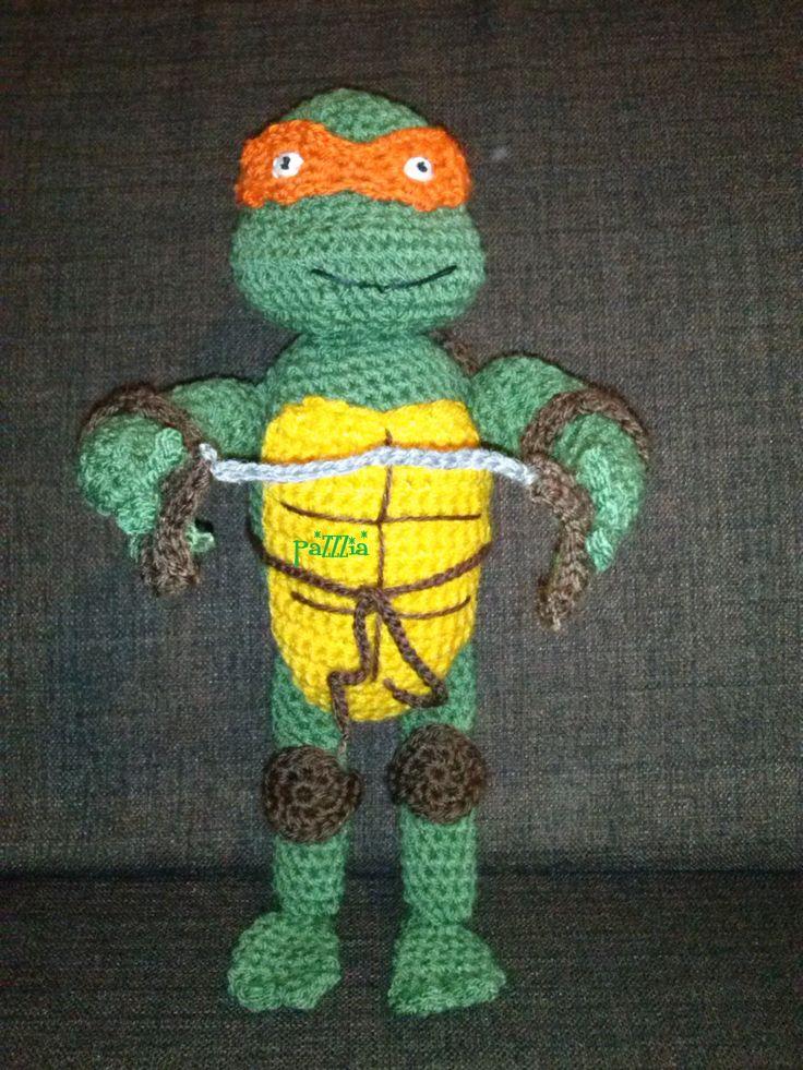 Tartaruga Ninja crochet