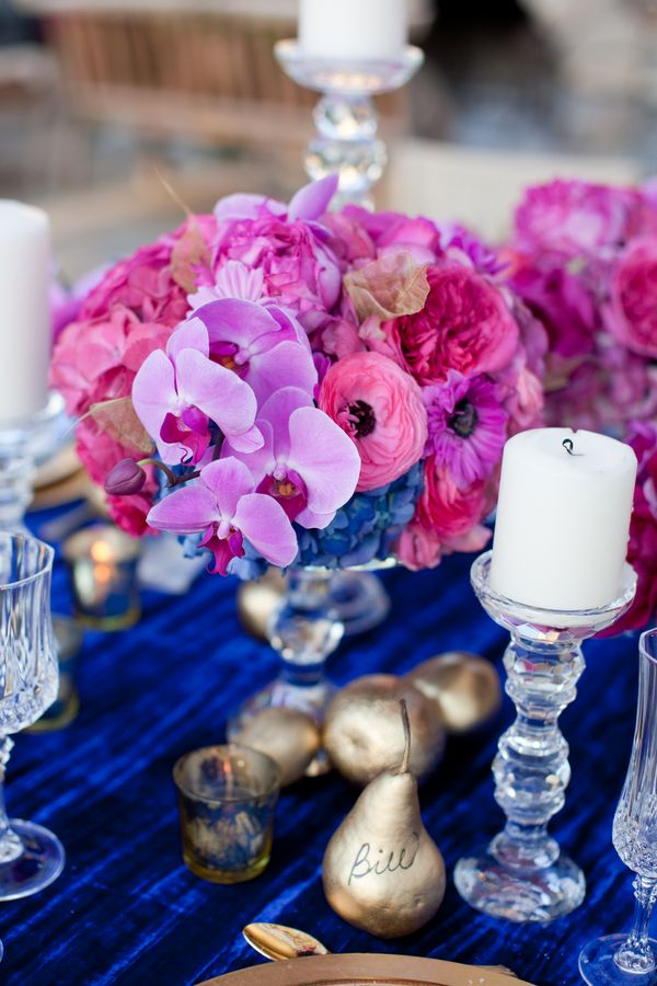 Royal Blue Fuchsia Wedding Flowers In 2018 Laura S Pinterest And Receptions
