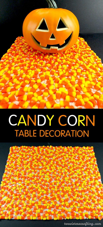 Candy Corn Halloween Table Decoration | Fun halloween ...