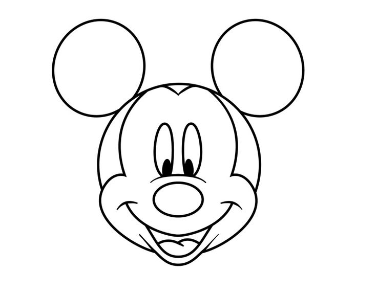 funny mickey mouse face coloring pages