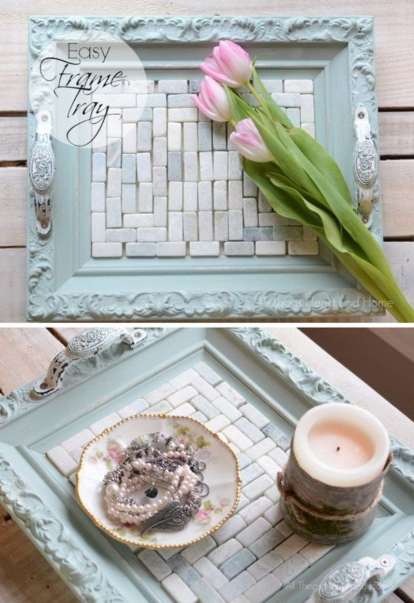 Easy Shabby Chic Frame Tray