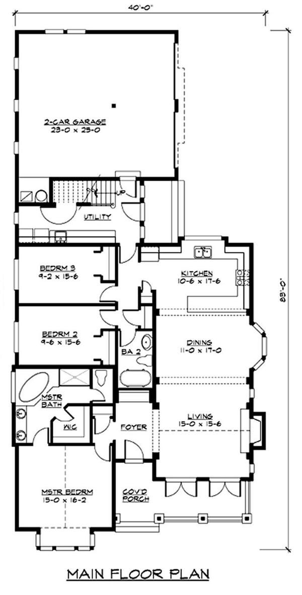 Best New House Plans Images On Pinterest Home Plans Country - Craftsman style narrow house plans