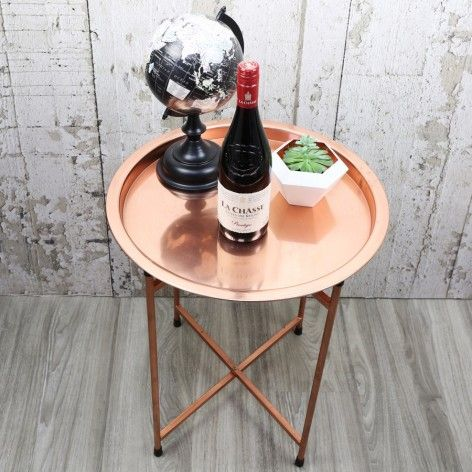 Round Copper Coffee Table at lisaangel.co.uk