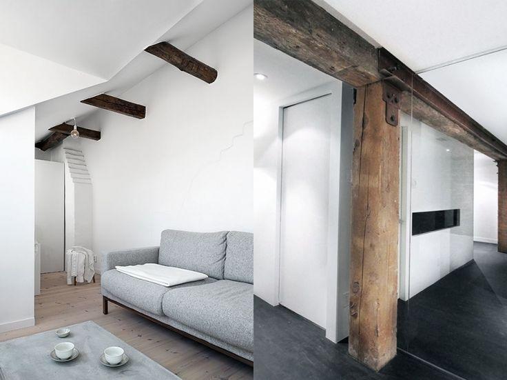 17 beste idee n over houten balken op pinterest houten plafondbalken balken en balkenplafond - Kamer met balken ...