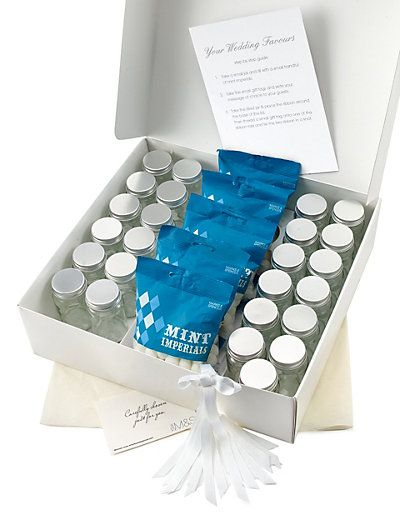 Mint Imperials Wedding Favours with White Ribbon - Pack of 25 | M&S