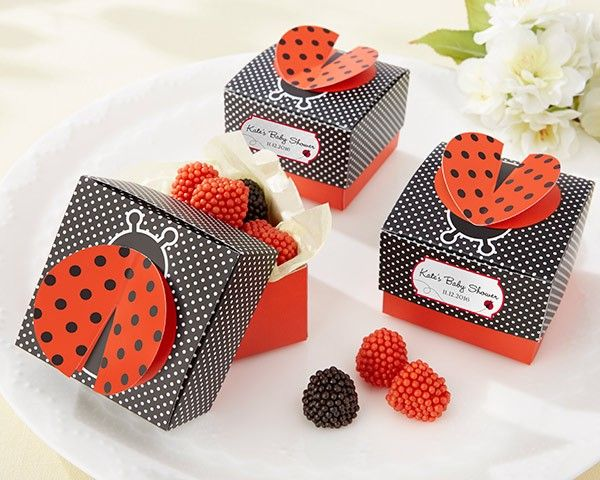 """Cute as a Bug"" 3-D Wing Ladybug Favor Box by HerBabyShower"