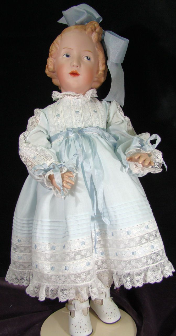 Porcelain Dolls for Sale - The Sister in Blue Close Up Photos