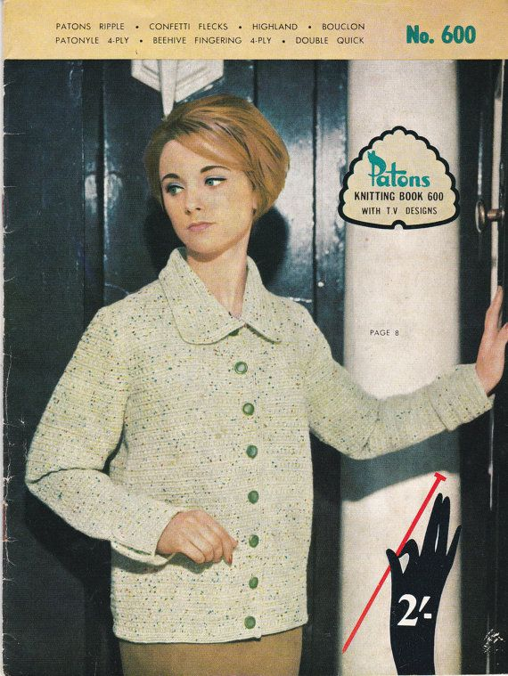 48 best knitting patterns images on pinterest knitting stitches vintage 1950s patons knitting pattern no 600 for women fandeluxe Image collections