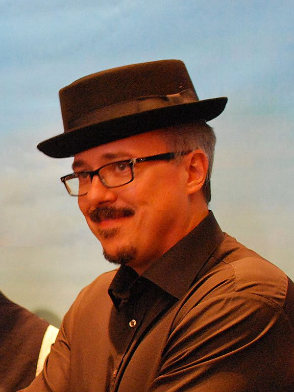 Vince Gilligan at the Goorin Bros. Heisenberg hat release event, San Diego Comic-Con, 2013. Photo by Edward Ilsen. See his photo gallery from this event.