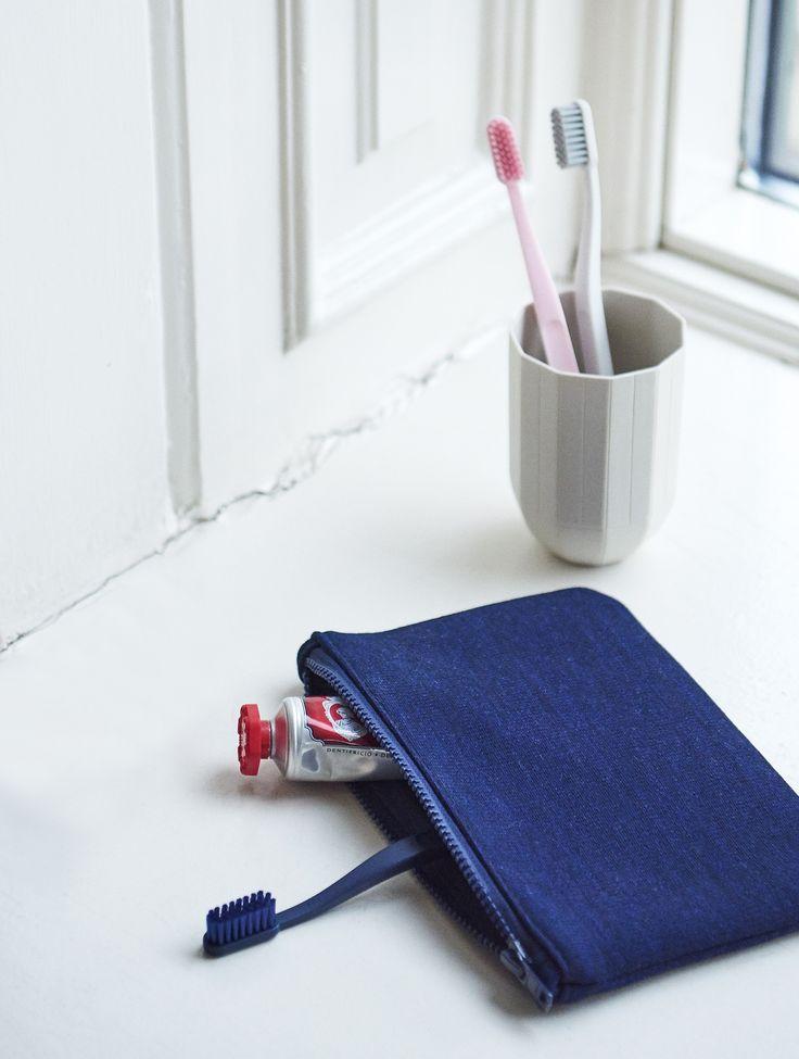 Tann toothbrush, Zip purse and Paper porcelain mug.