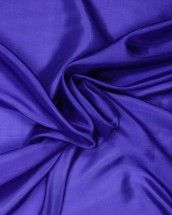 Plain Silk Habotai Fabric - Royal Blue