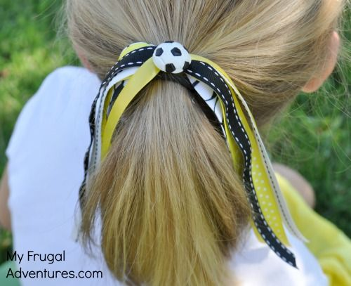 Easy DIY pony-o ribbons for girls. perfect for sports, Disneyland, school colors, cheer, dance and more!