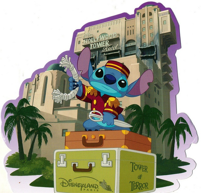 Hollywood Tower of Terror Stitch postcard | Flickr - Photo Sharing!