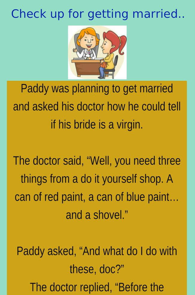 HUSBAND WIFE JOKES & FUNNY STORY A Man Want Medical Check Up Of His New Bride..