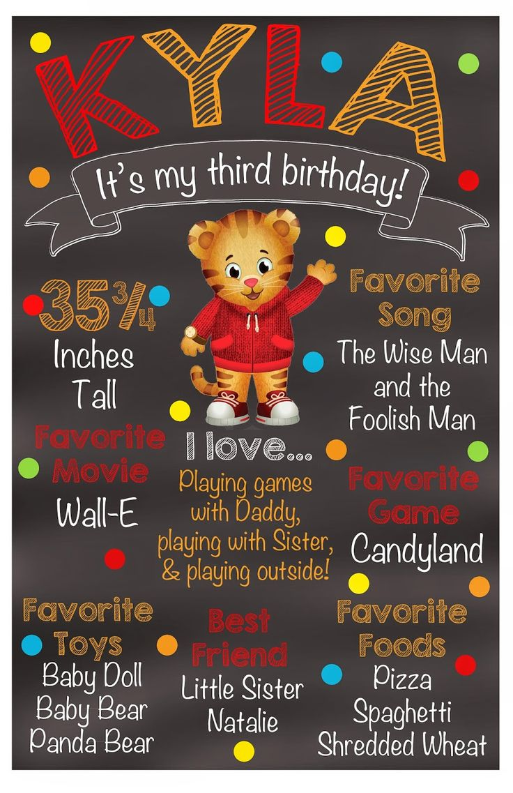 My daughter turned three a few months ago.   Her favorite tv show is Daniel Tiger's Neighborhood.   I decided to decorate with all Daniel T...