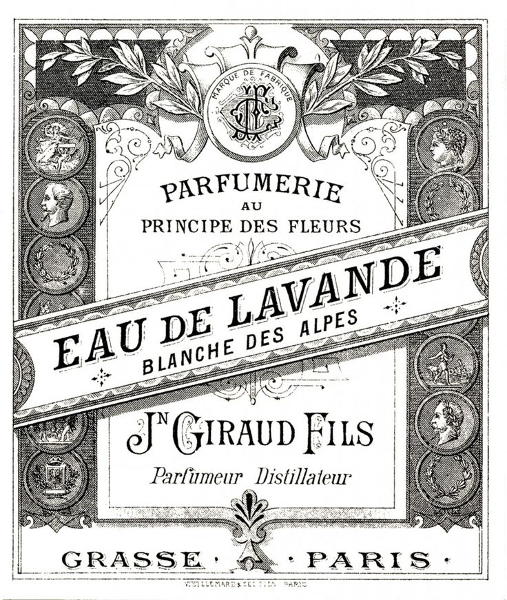 vintage graphics  | Antique Perfume Label Image - The Graphics Fairy