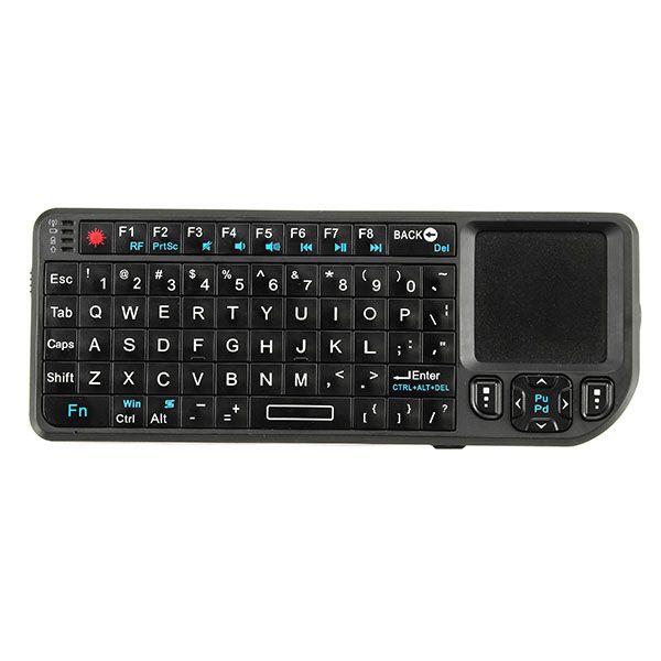 Wireless Mini Teclado Airmouse Touchpad Puntero Presentador para TV Caja PC PPT