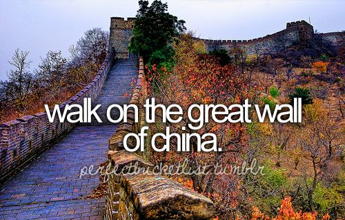I got to check this off my list, too!  Sitting there I had the most amazing feeling. Total complete contentment. Who would have thought I could or would ever walk on the great wall of china!