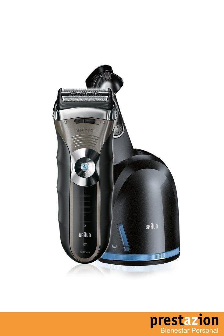 Braun Afeitadora_Series_3 390 4_cc_con_sistema_de_carga_y_autolimpieza_Clean_&_Renew