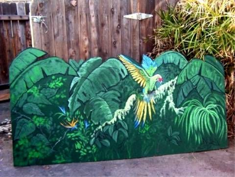 100 best fence painting murals images on pinterest fence for Cypress gardens mural