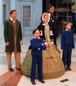 Lincoln family figures at the Abraham Lincoln Presidential Library and Museum in Springfield, Illinois