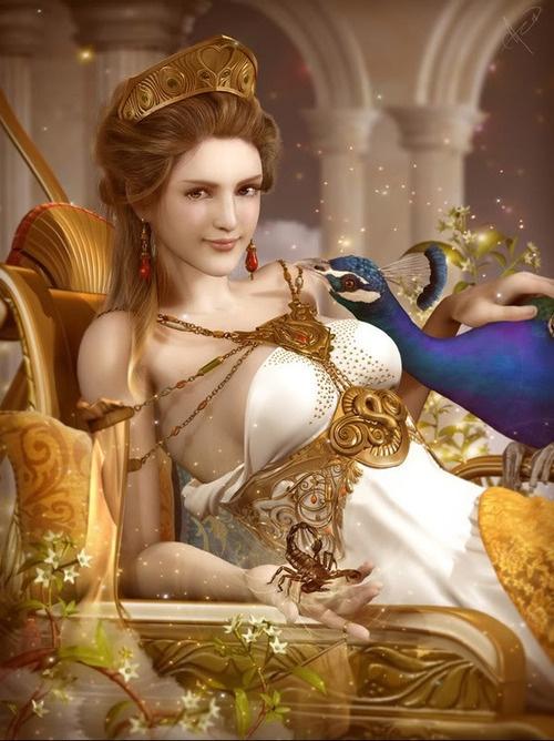 ✯ Hera, Greek Goddess of Marriage and Childbirth :: Artist Unknown ✯