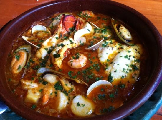 """Our dinner last night Zarzuela this excellent seafood stew comes from the Catalan coast of northeast Spain. Zarzuela means """"operetta,"""" """"variety show"""", or """"medley"""" in Spanish"""" and perfectly describes the sing-song versatility of this dish. Recipe available at https://www.facebook.com/justmadefromscratch"""