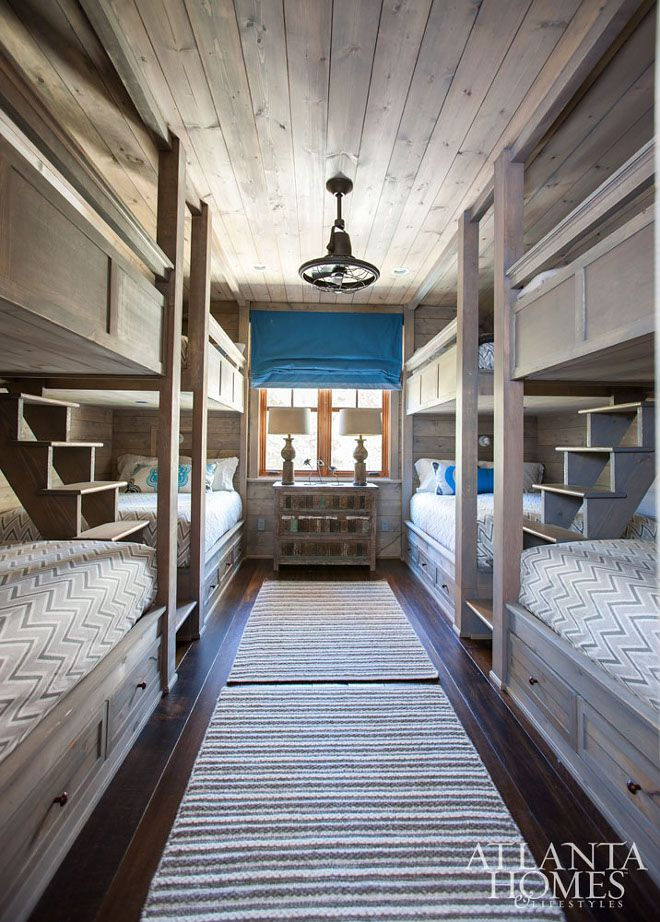 37 Beautiful Farmhouse Interior Designs You'll Swoon For. Lakeside CabinBunk  RoomsRustic ...