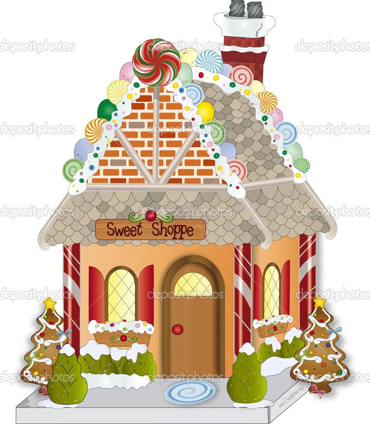 christmas clip art gingerbread house - photo #40
