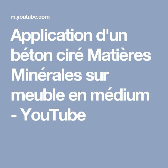 Application d'un béton ciré Matières Minérales sur meuble en médium - YouTube