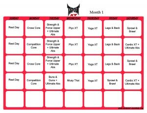 Tapout XT Schedules - website allows you to print them all
