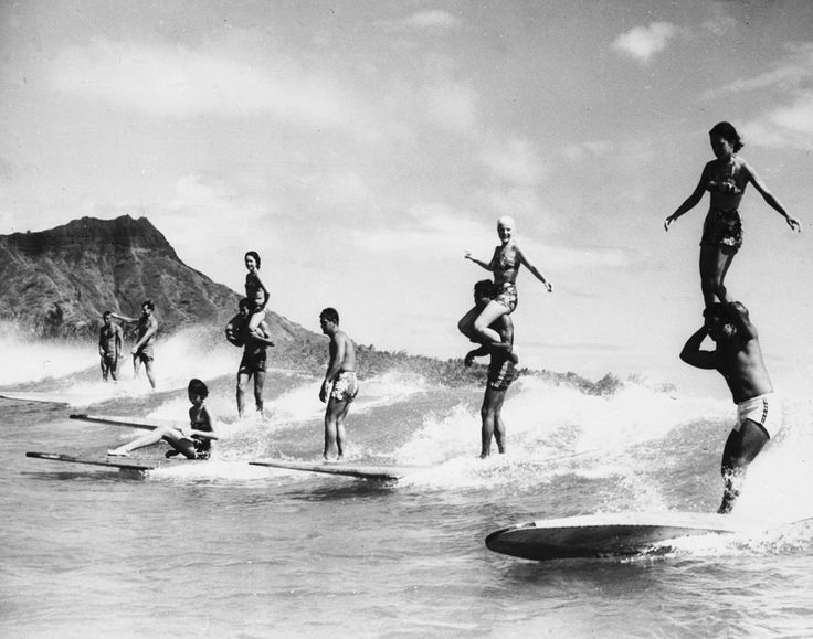 Surfboard acrobatics. #surfing #acrobatics #balance #old #photography #panama #jack