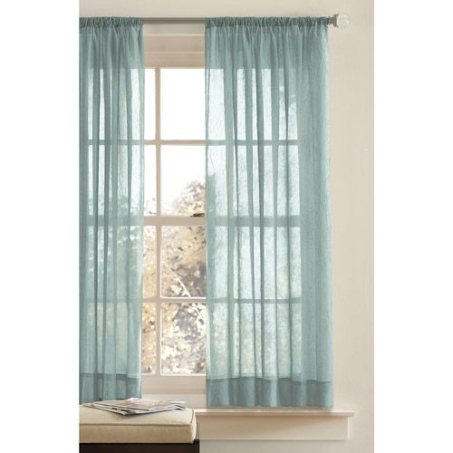 Better homes gardens chf crushed voile long curtains green Better homes and gardens curtains