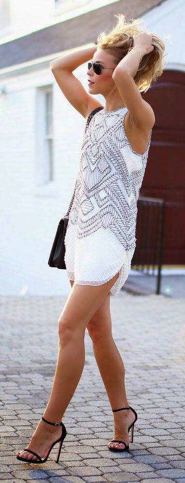 White embellished dress