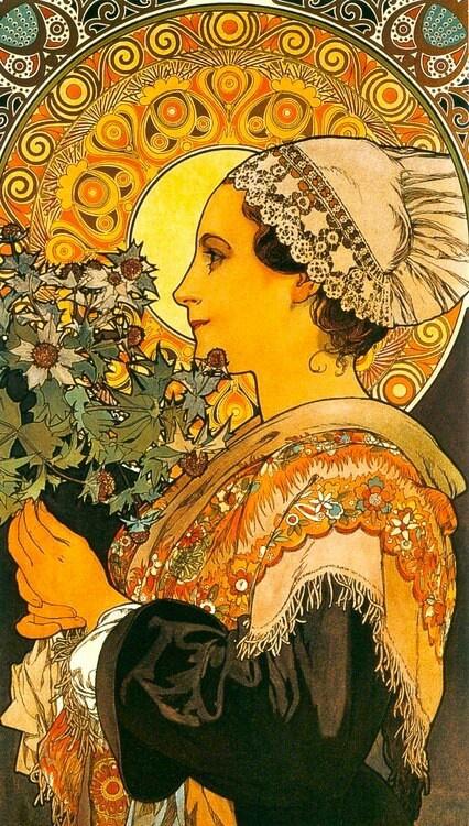 Alphonse Mucha / Thistle of the Sands / 1902