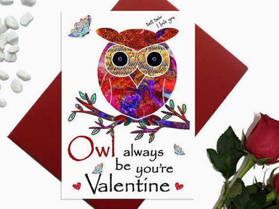 Valentines day card  Cute owl card  Owl always be