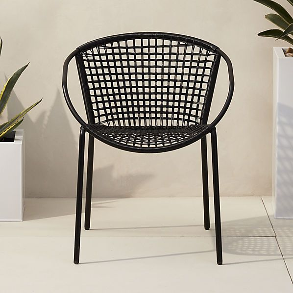 CB2 170.00 sophia black dining chair