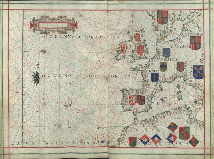 """Il. 171 - 0020 -  Fernão Vaz Dourado (1520-1580) - """"[Atlas]"""". [Cerca de 1576].  BNP IL. 171"""