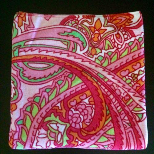 Ralph-Lauren-Home-Collection-Towel-Pinks-Greens-Orange-Paisley-Pattern-27-034-X-50-034